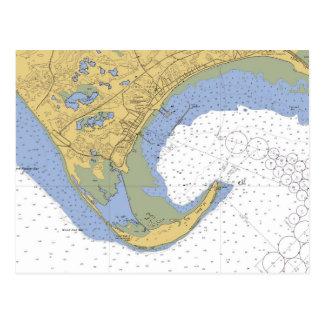 Provincetown MA Harbor Chart Postcard