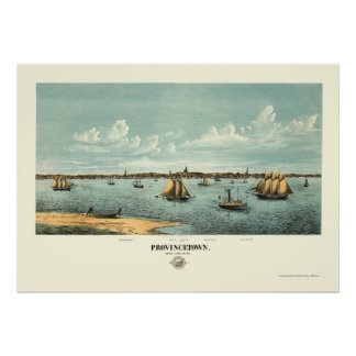 Provincetown, MA Panoramic Map - 1877 Poster