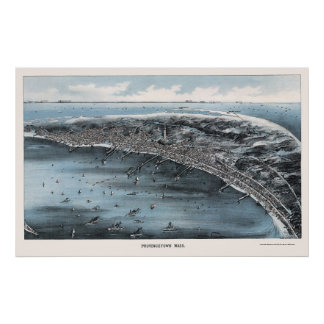 Provincetown, MA Panoramic Map - 1910 Poster