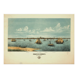 Provincetown Massachusetts 1877 Antique Panorama Poster