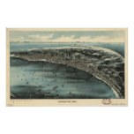 Provincetown Massachusetts 1910 Antique Panorama Poster
