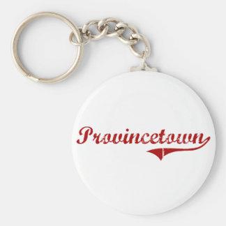 Provincetown Massachusetts Classic Design Basic Round Button Keychain