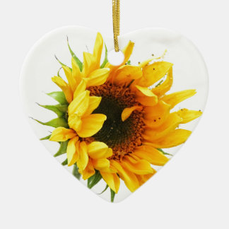 Provincetown Sunflower Ceramic Ornament