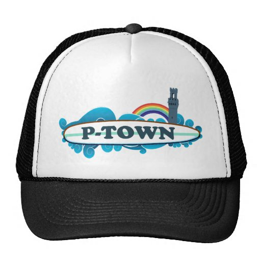 """Provincetown """"Surf"""" Design. Trucker Hat"""