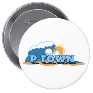 """Provincetown """"Waves"""" Design. 4 Inch Round Button"""