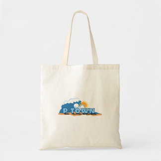 """Provincetown """"Waves"""" Design. Tote Bags"""