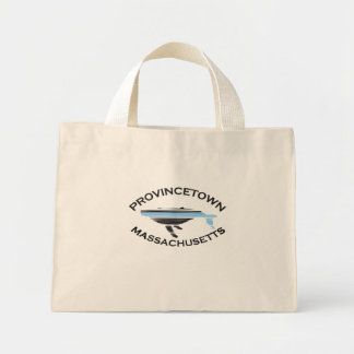 """Provincetown """"Whale"""" Design. Tote Bags"""