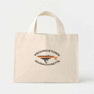 """Provincetown """"Whale"""" Design. Mini Tote Bag"""
