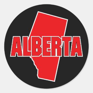 Provincia de Alberta Pegatina Redonda