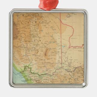 Provincia de cabo, Transvaal, sección occidental Adorno Navideño Cuadrado De Metal