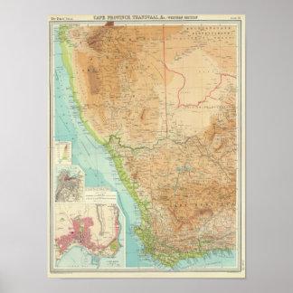 Provincia de cabo, Transvaal, sección occidental Póster