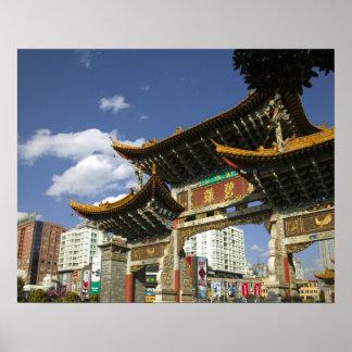 Provincia de CHINA, Yunnan, Kunming. Arco conmemor Póster
