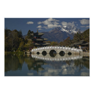Provincia de CHINA, Yunnan, Lijiang. Lijiang viejo Póster