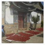 Provincia de CHINA, Yunnan, Tianshengying. Secado Tejas Ceramicas