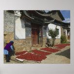 Provincia de CHINA, Yunnan, Tianshengying. Secado Impresiones