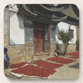 Provincia de CHINA, Yunnan, Tianshengying. Secado Posavasos