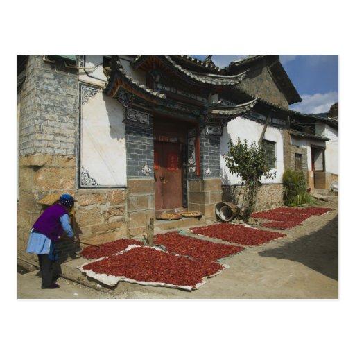 Provincia de CHINA, Yunnan, Tianshengying. Secado Postales