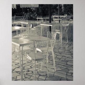 Provincia de Italia, Brescia, Sirmione. Café de la Póster