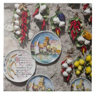 Provincia de Italia, Brescia, Sirmione. Recuerdos Azulejo Cuadrado Grande