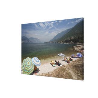 Provincia de Italia, Verona, Brenzone. Lago Garda Impresión En Lona Estirada