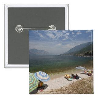 Provincia de Italia, Verona, Brenzone. Lago Garda Pin Cuadrada 5 Cm