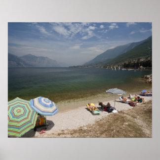 Provincia de Italia, Verona, Brenzone. Lago Garda Póster