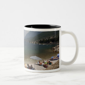 Provincia de Italia, Verona, Brenzone. Lago Garda Taza De Dos Tonos