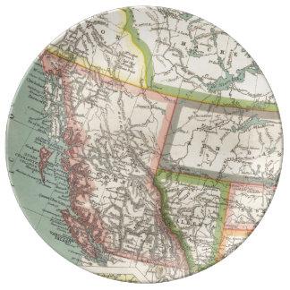 Provincia de la Columbia Británica (C. 1900) Platos De Cerámica