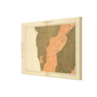 Provincia de la isla de Nueva Escocia del bretón 1 Impresión En Lienzo