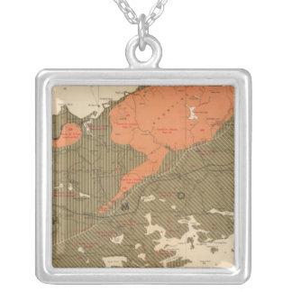 Provincia de la isla de Nueva Escocia del bretón 3 Colgante Cuadrado