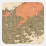 Provincia de la isla de Nueva Escocia del bretón 3 Pegatina Cuadrada