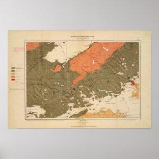 Provincia de la isla de Nueva Escocia del bretón 3 Póster