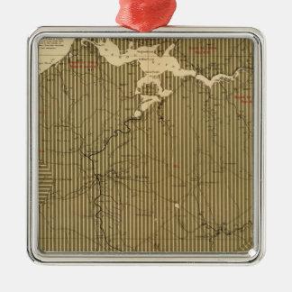 Provincia de la isla de Nueva Escocia del bretón 4 Adorno Navideño Cuadrado De Metal