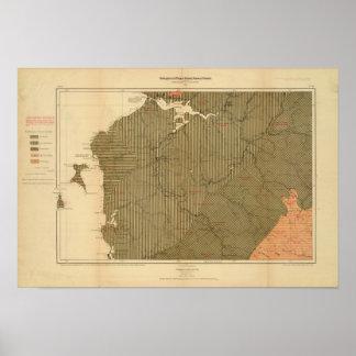 Provincia de la isla de Nueva Escocia del bretón 4 Póster
