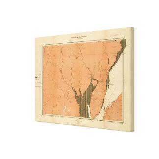 Provincia de la isla de Nueva Escocia del bretón 5 Impresión En Lienzo