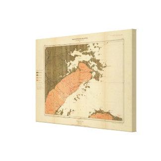 Provincia de la isla de Nueva Escocia del bretón 6 Impresión En Lienzo