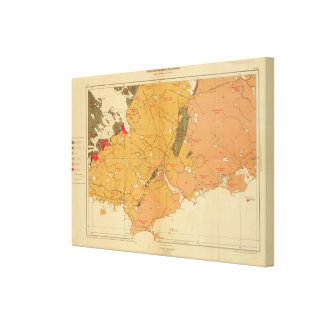 Provincia de la isla de Nueva Escocia del bretón 7 Impresión En Lienzo
