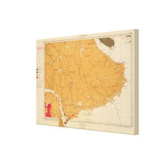 Provincia de la isla de Nueva Escocia del bretón 8 Impresión En Lienzo
