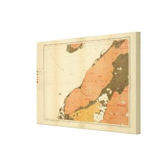 Provincia de la isla de Nueva Escocia del bretón 9 Impresión En Lienzo