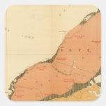 Provincia de la isla de Nueva Escocia del bretón 9 Pegatina Cuadrada