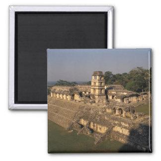 Provincia de México, Chiapas, Palenque, el palacio Imán Cuadrado