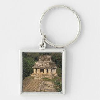 Provincia de México, Chiapas, Palenque, templo de Llavero Cuadrado Plateado