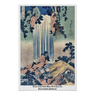 Provincia de Mino de la cascada de Yoro por Katsus Póster
