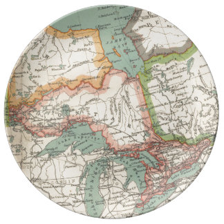 Provincia de Ontario (C. 1900) Plato De Cerámica