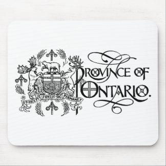 Provincia de Ontario - escudo de armas Tapetes De Ratón