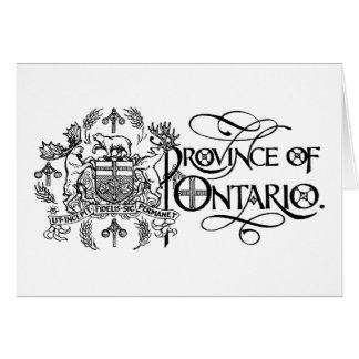 Provincia de Ontario - escudo de armas Tarjeta De Felicitación