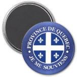 Provincia de Quebec Imán Redondo 7 Cm