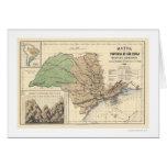 Provincia del mapa 1886 de Sao Paulo el Brasil Tarjeta De Felicitación