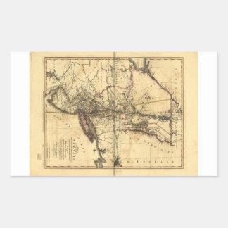 Provincia del mapa de Nueva York y de New Jersey Pegatina Rectangular