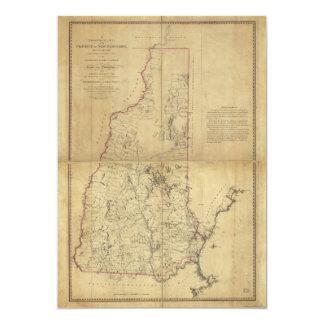 """Provincia del mapa topográfico de New Hampshire Invitación 5"""" X 7"""""""